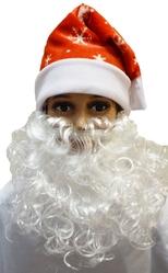 Дед Мороз - Красный плюшевый колпак с бородой