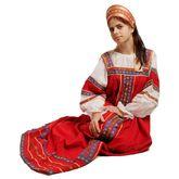 Русские народные костюмы - Красный сарафан Забава