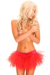 Подъюбники и юбки - Красный мини-подъюбник