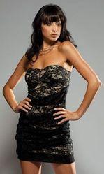 Клубные платья - Кружевное мини-платье