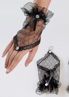 Прозрачные перчатки черные