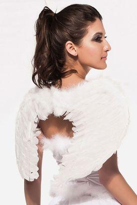 Крылья ангела белые 55см
