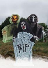 Скелеты и Зомби - Кукла на палке злая тыква