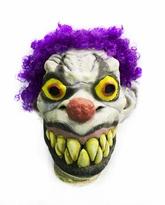 Клоуны - Латексная маска клоуна с фиолетовыми волосами