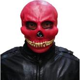 Скелеты и мертвецы - Латексная маска красного черепа