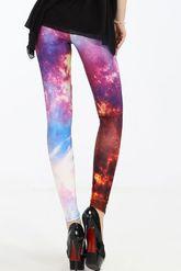 Чулки и колготки - Леггинсы ночь в галактике