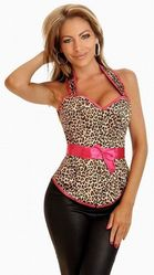 Корсеты - Леопардовый корсет с трусиками