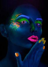 Женские костюмы - Линзы Фиолетовый неон