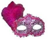 Венецианский карнавал - Малиновая маска с пером