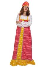 Женские костюмы - Малиновый костюм Аленушки для взрослых