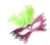 Венецианский карнавал - Маска бабочка с зелеными перьями