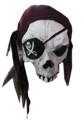 Скелеты и мертвецы - Маска черепа пирата в бандане