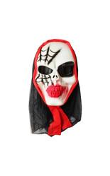 Мужские костюмы - Маска черепа с паутиной в капюшоне