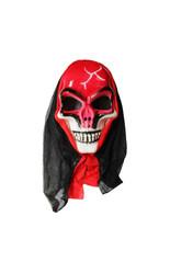 Мужские костюмы - Маска красного черепа в капюшоне
