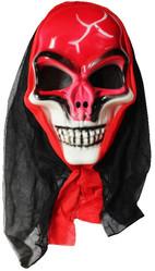 Скелеты и мертвецы - Маска красного черепа в капюшоне