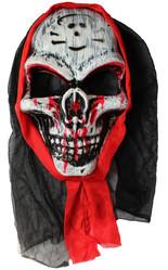 Мужские костюмы - Маска кровавого черепа в капюшоне