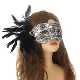 Карнавальные маски - Маска с черным пером