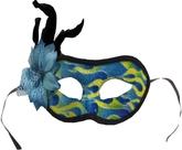 Венецианский карнавал - Маска с голубым цветком