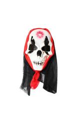 Мужские костюмы - Маска скелета с меткой на лбу в капюшоне