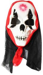 Скелеты и мертвецы - Маска скелета с меткой на лбу в капюшоне