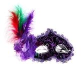 Венецианский карнавал - Маска Загадка фиолетовая