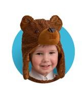 Карнавальные маски - Меховая шапочка-маска Медвежонок