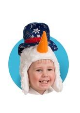 Снеговики - Меховая шапочка-маска Снеговичок