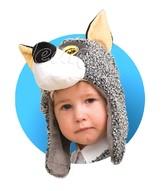 Волки - Меховая шапочка-маска Волчонка
