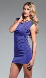 Клубные платья - Мини-платье с бисером