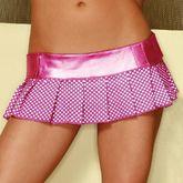 Подъюбники и юбки - Мини-юбка розовая в горошек