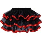 Подъюбники и юбки - Многослойная красно-черная юбка