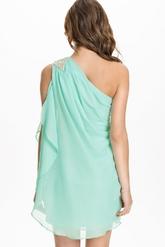 Мятное платье-туника