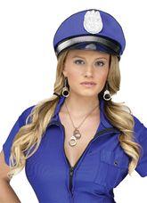 Полицейские и Грабители - Набор Ожерелье Серьги