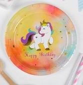 Единороги - Набор тарелок 6 шт Радужный единорог