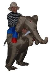 Слоны - Надувной костюм На слоне