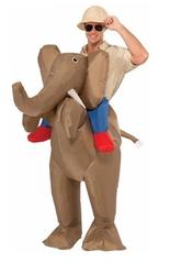 День смеха - Надувной костюм Верхом на слоне
