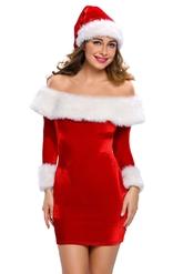 Санта - Нарядный костюм Девушки Санты