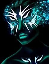 Ресницы и линзы - Неоновые Neon Blue