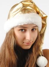 Костюмы на Новый год - Новогодний золотистый колпак