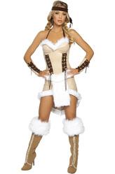 Индейцы - Костюм Очаровательная индейская девушка бежевый