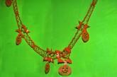 Декорации - Оранжевая гирлянда Тыквы