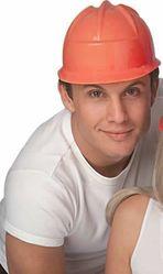 Пожарные - Оранжевая строительная каска