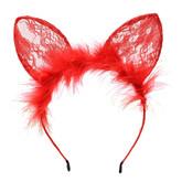 Кошки - Оранжевые кружевные ушки