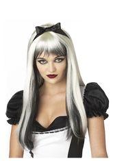 Алиса в Стране чудес - Парик Алисы бело-черный