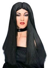 Костюмы на Хэллоуин - Парик чарующей ведьмы брюнетки