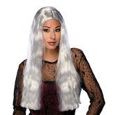 Костюмы на Хэллоуин - Парик чарующей ведьмы серебристый