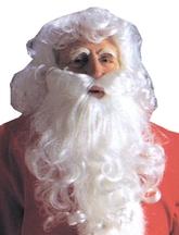 На Новый год - Парик и борода Санта Клауса