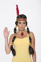 Ковбои и Индейцы - Парик индейцев черный