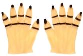 Перчатки и боа - Перчатки руки с черными ногтями