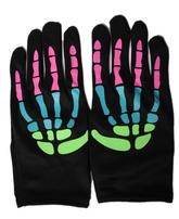 Перчатки и боа - Перчатки скелета разноцветные